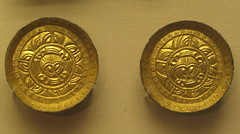 Pair of Saxon Saucer Brooches (Thorskegga) Tags: old england london art english museum bronze design early ancient pattern britain brooch decoration british saucer saxon pagan gilt anglo heathen asatru heathenry