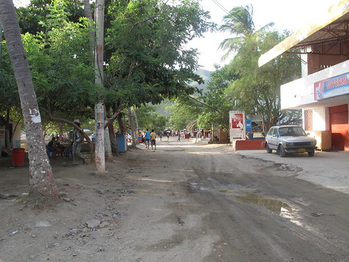 Main road in Taganga.