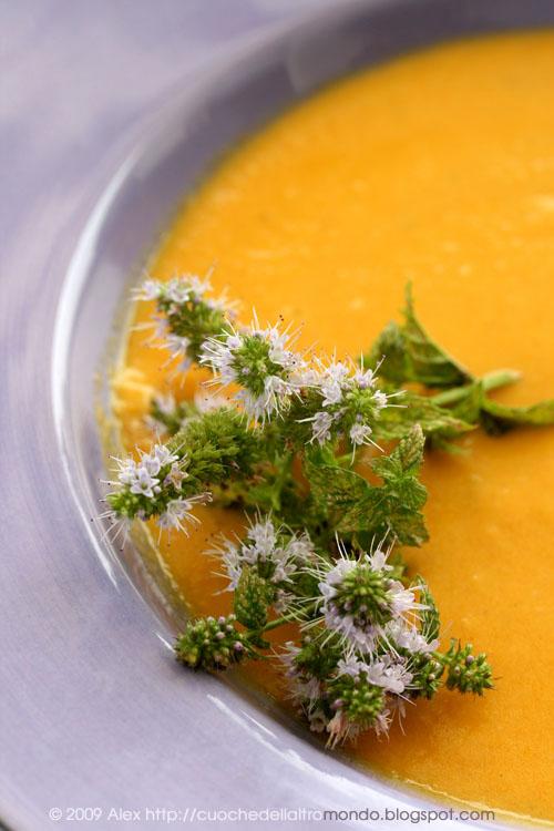 Zuppa di carote e crema di arachidi
