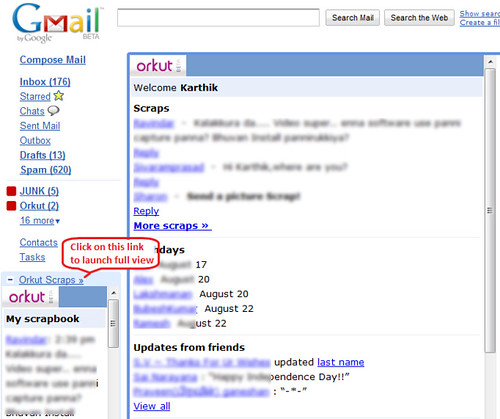 Orkut in GMail