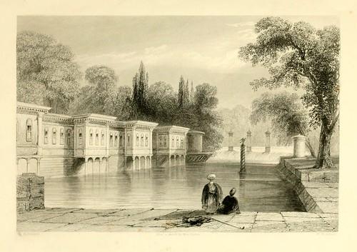 001-El palacio de las aguas dulces-Las bellezas del Bosforo 1838-W.H. Bartlett