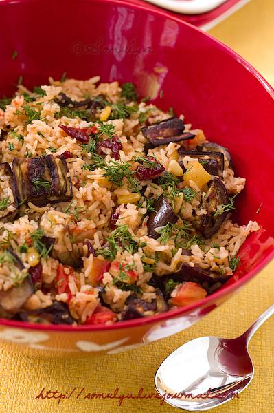 Rice with eggplant