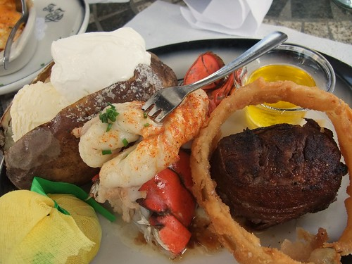 Surf 'n Turf at The Top Steakhouse