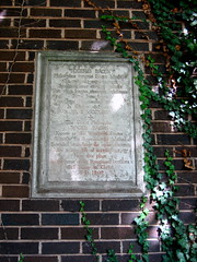 Photo of Roger Bacon stone plaque