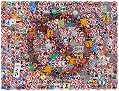 No Signs (Leo Reynolds) Tags: photomosaic flickrthing coverpop 0sec hpexif webthing mosaicsquircle xleol30x xphotomosaicx