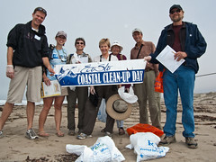 Center team Holds EcoSlo Coastal Clean-up Bann...