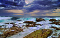 (Evan_Williams) Tags: ocean sky water rain clouds nikon rocks waves sydney australia tokina d300 deewhybeach 1116mm
