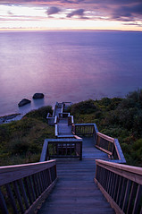 sound sunset (s o u t h e n) Tags: ocean sunset beach water stairs marthas vineyard nikon rocks purple ryan massachusetts cyan magenta atlantic sound marthasvineyard atlanticocean 2009 vineyardsound southen ryansouthen d700 nikond700