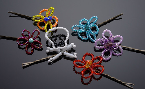 Wire Flower Hairpins3