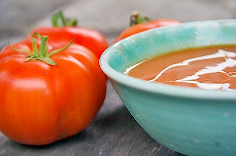 Roasted Tomato Soup with Sage - TheMessyBaker.com