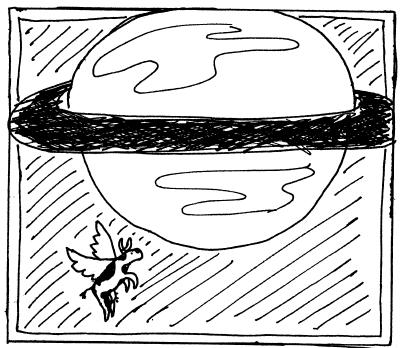Flying Cowtoon: Saturn