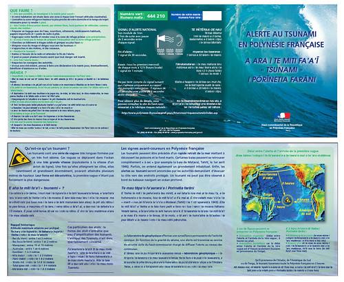 Plaquette Alerte Tsunami en Polynesie Francaise