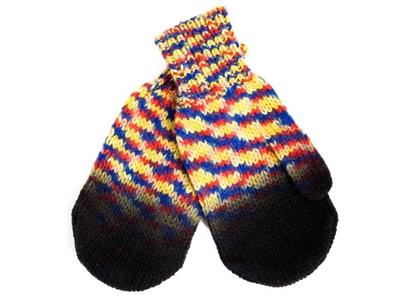 Dip-dye knit mittens by Henrik Vibskov FW09