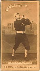 [Billy Sunday, Chicago White Stockings, baseball card portrait] (LOC)
