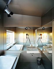 Triangle House design bathroom interior