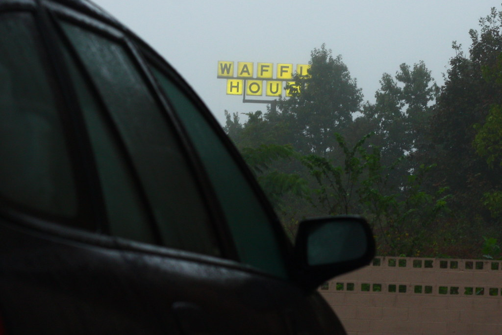 Waffle House in the Mist