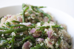 Garlicky Quinoa and Samphire Recipe