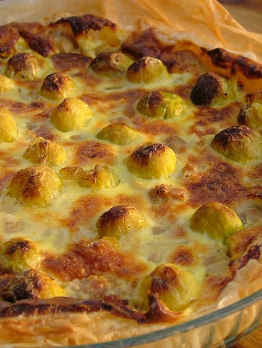 Quiche with brussels sprouts