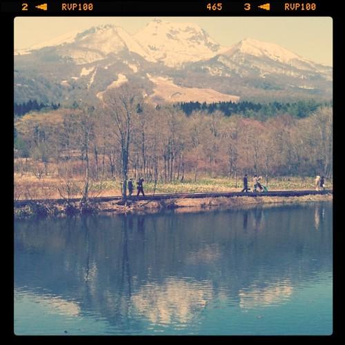 撮影でいもり池。晴れて良かった
