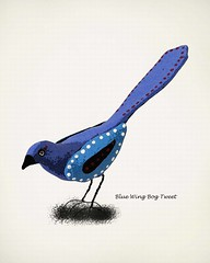 blue wing bog tweet 3 (Paper Cottage) Tags: bluebird birdart birdpictures