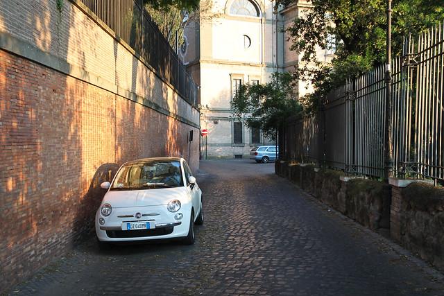 Rome. Fiat 500