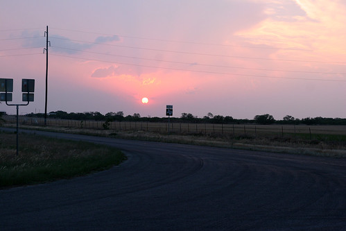 The day ends with a beautiful harvest sunset
