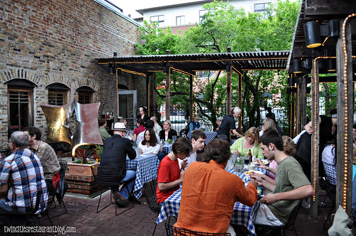 Patio at the Black Forest Inn in Evening~ Minneapolis, MN