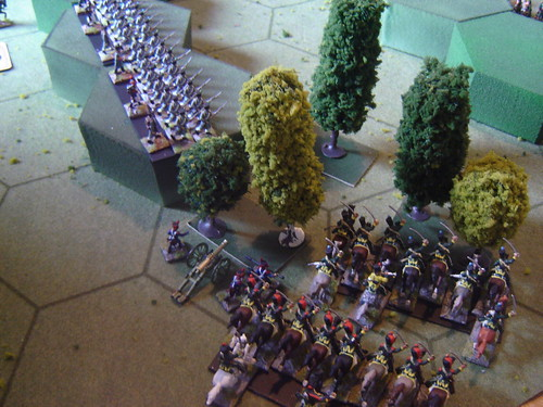 French cavalry move up on the right flank