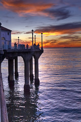 Manhattan Beach Pier (brookville) Tags: sunset beach photoshop canon reflections pier pacific sunsets pacificocean canon5d hdr lightroom manhattanbeachpier photomatix 5exposures singlerawfile hdraddicted singleimagetonemap hdraward hdrterrorist pacificoceansky