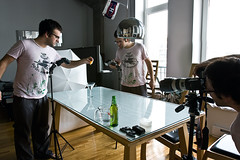 The Setup (Dan. D.) Tags: speed umbrella canon photography high flash setup splash 580ex highspeed 420ex strobist eldano