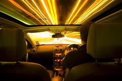 """Warp Factor 3 Mr Sulu"" (V a s s) Tags: car night starwars driving nissan streetlights lighttrails movingcar qashqai wwwdoubleyolkcouk"