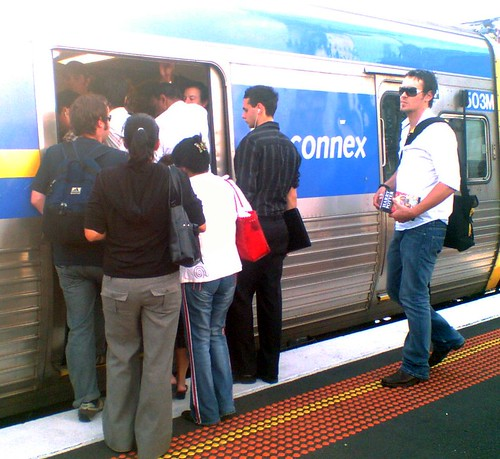 Trains packed after a disruption