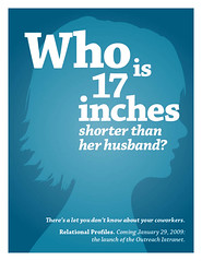 Whi is 17 inches shorter than her husband?