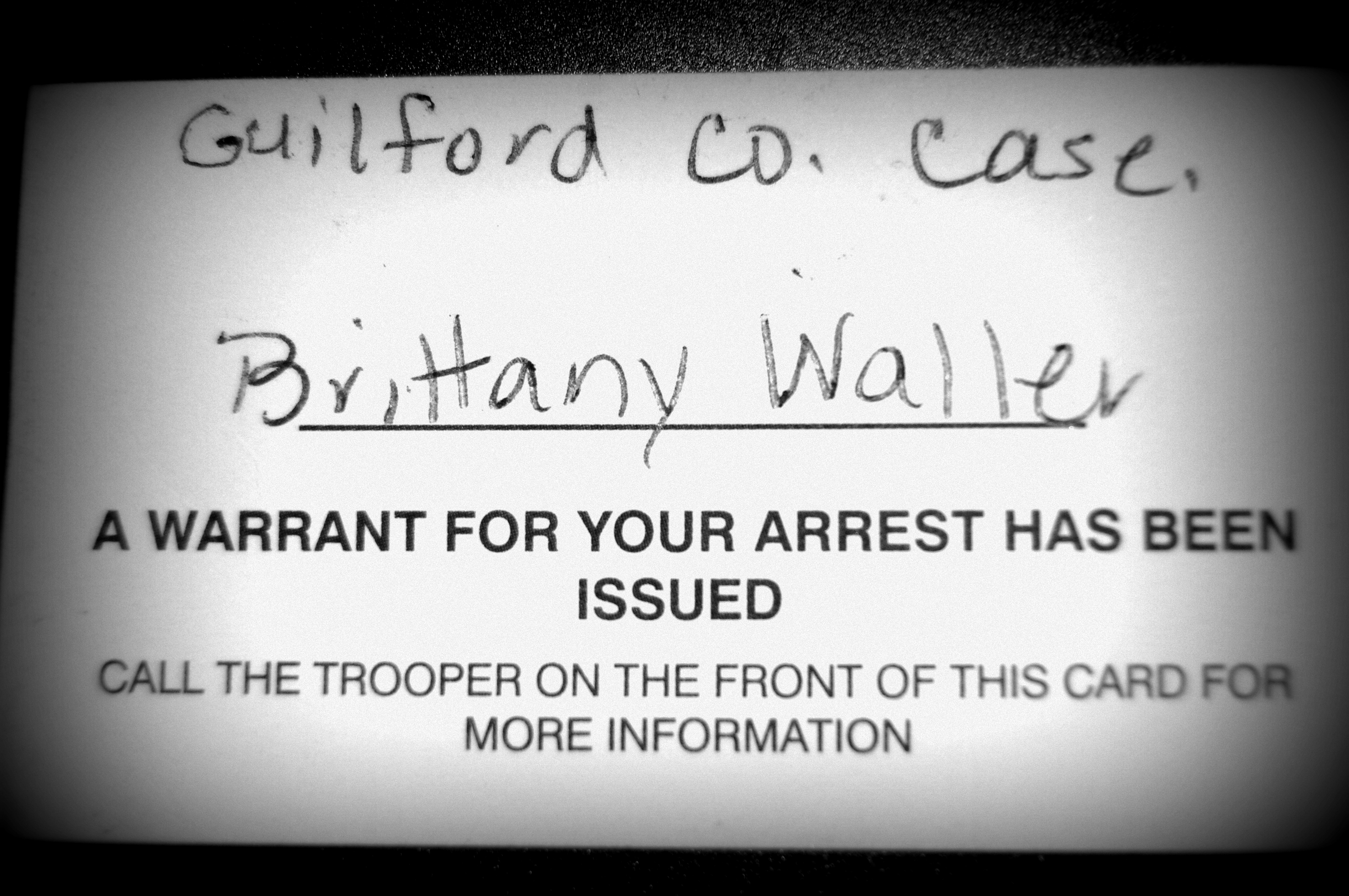 outstanding arrest warrants