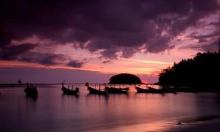 Kata Beach sunset, Phuket, Thailand