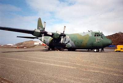 Honey, I chartered a plane... Our C130 on King George island