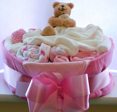 100209 Another Nappy Cake (Lady Gooner) Tags: pink baby craft diapercake gify nappycake hpad2009
