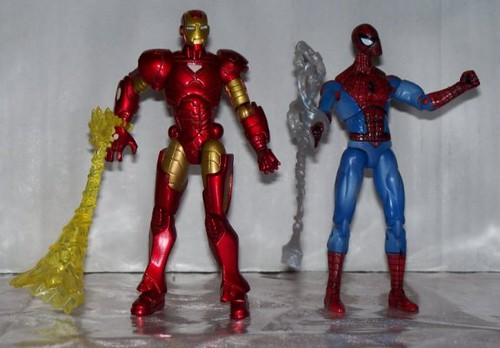 Marvel Universe Iron Man and Spider-Man