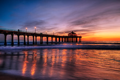 Manhattan Beach Pier (szeke) Tags: ocean california sunset beach clouds pier searchthebest pacific manhattanbeach hdr blueribbonwinner photomatix flickrsbest golddragon karmapotd qualitypixels obq laphotocontest09nature