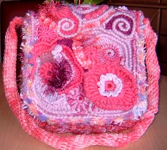 "Freeform Bag ""Pink Denise"" (regulli) Tags: bag freestyle freeform scrumble freeformcrochet scrumbles"