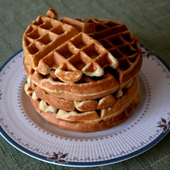 Buttermilk Waffles (.mariannika.) Tags: food cooking ma yum eating budget waffles markbittman howtocookeverything buttermilkwaffles artisthehandmaidofhumangood 60week eatingonabudget
