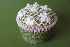 lace couture cupcake (ArtisanCakeCompany) Tags: birthday wedding brown white orchid green cake oregon portland shower cupcakes chocolate weddingcake wrap special sprinkles bakery pearl salem dust occasion couture grooms artisan frosting dredge shimmer keizer bakeries fondant buttercream artisancakecompany