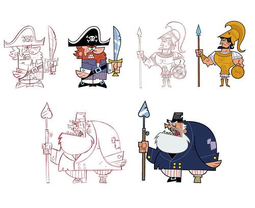Fairly OddParents designs by Gordon Hammond