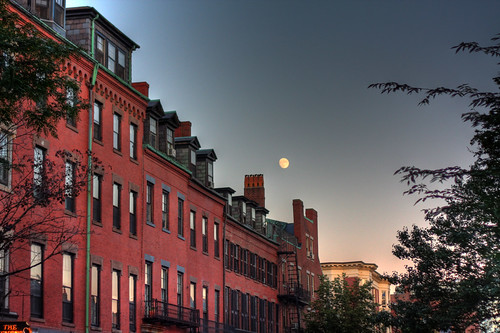 Moon over Charles Street
