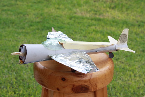 Model Plane made from recycled materials