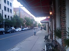 Downtown Charleston waiting for David & Susan ...