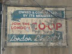 Old Co-op sign in Walthamstow (Richard and Gill) Tags: london coop e17 guesswherelondon walthamstow lcs stjamesstreet gwl foodndrink mrjacks londoncooperativesociety shopsretailers londoncoop ga00617