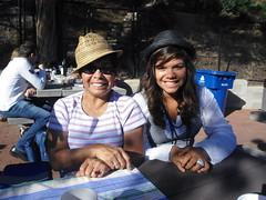 Grandma and Tahlya wearing cool hats