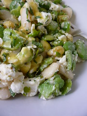 Broad Bean , Butter Beans , Tarragon and Feta