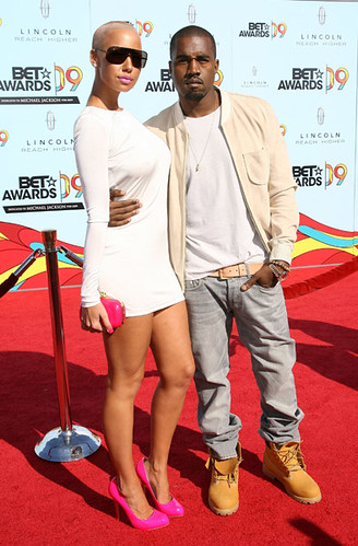 amber rose and kanye west at bet awards. Kanye and Amber Rose arrive at